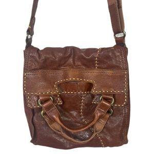 Lucky Abbey Road Cognac Brown Crossbody Messenger